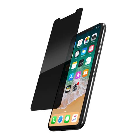 0 33mm tempered glass 2 way privacy screen protector for iphone x odoyo