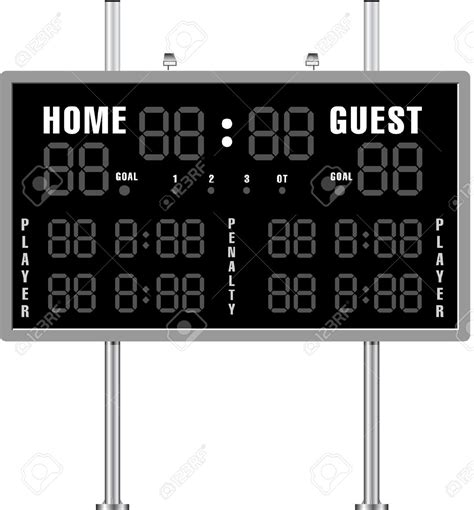 football scoreboard coloring page clipart scoreboards clipart collection countdown timer