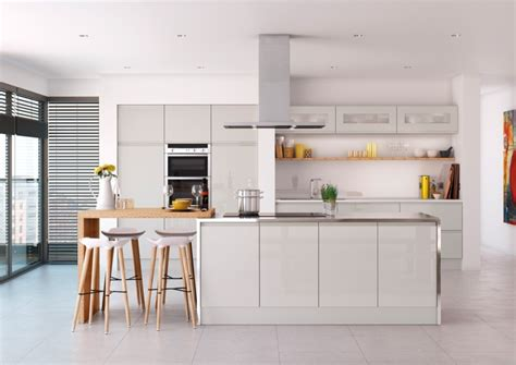 light grey gloss kitchen launched by value range your