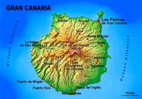 printable map gran canaria first steps arrival project mi5