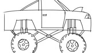 learn how to draw a monster truck for kids step by step