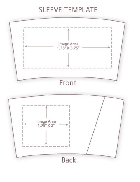 coffee cup sleeve template 1 color front of eco sleeves printed by custom printed