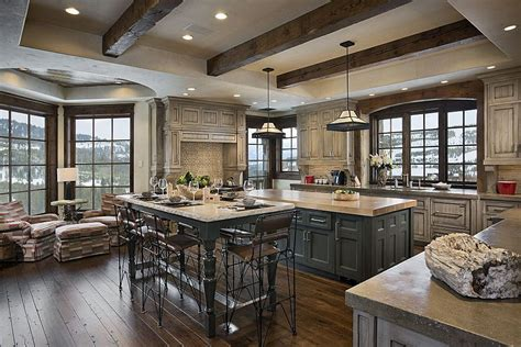 Aspen Kitchen Island by Country Kitchen With Undermount Sink Amp Exposed Beam