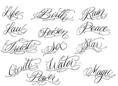 best cursive fonts for tattoos tattoo ideas ink and