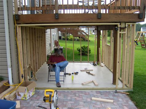 How To Build A Shed A Deck by Panofish 187 Building A Shed A Deck