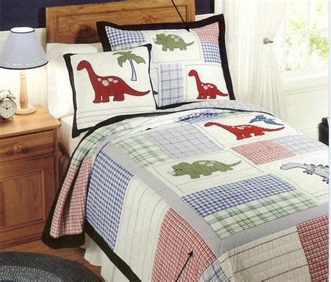 Childrens Bed Quilts by European Style Cotton Quilt Dinosaur Bed Cover Autumn