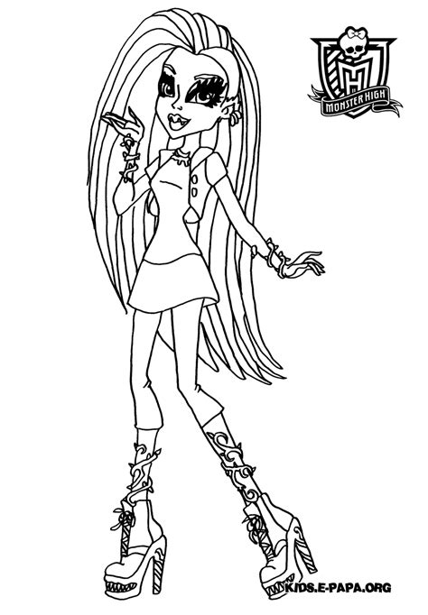 venus monster high colouring pages