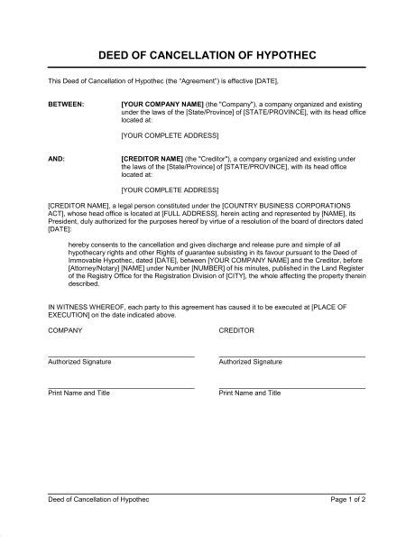 notice of cancellation of contract template sle