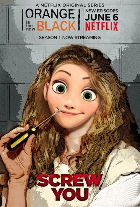 Gamis Rapunzel No 5 5 6th what if disney characters made up the cast of orange is