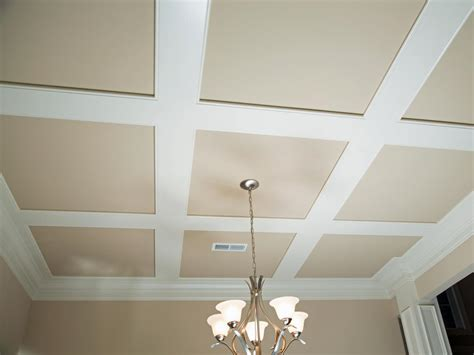 Installing A Ceiling by How To Install Grasscloth On A Coffered Ceiling Hgtv