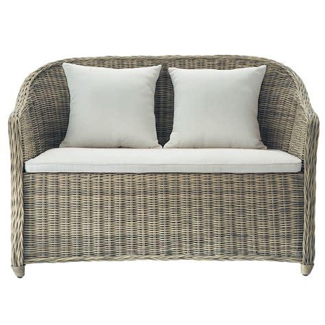 divanetto da esterno divanetto da giardino in resina intrecciata 2 posti st