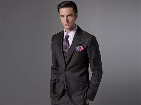 tie clip with a three suit styleforum