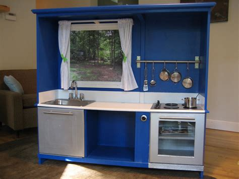 Play Kitchen by Regifter S Bible Entertainment Center Turned Play Kitchen