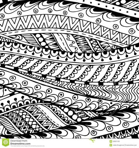 doodle pattern black and white asian ethnic doodle black and white pattern in stock