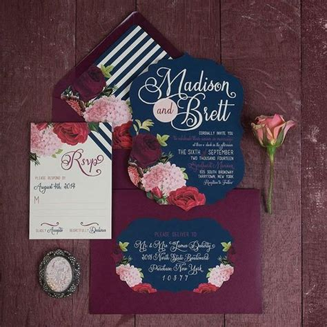 Marsala Wedding Invitations