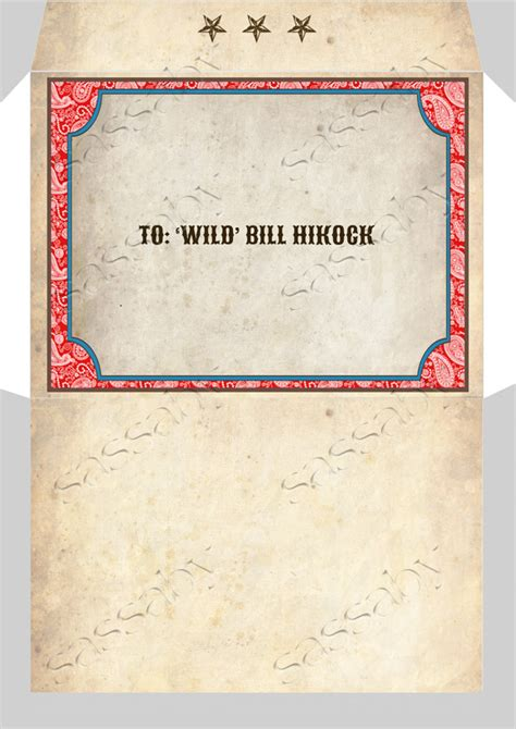 Make An Envelope From 8x11 Paper - cowboy invitation