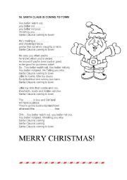 printable lyrics for santa claus is coming to town english teaching worksheets santa claus