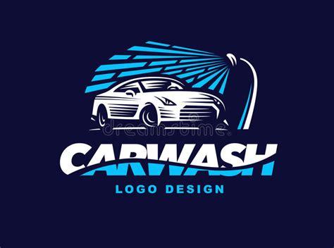 Logo Car Wash On Dark Background Stock Vector Illustration Of Design Element 74505104 Car Wash Logo Template Free