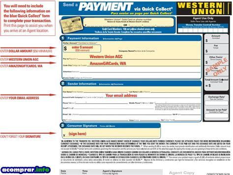 Gift Card Western Union - 191 como comprar una gift card de amazon mediante western union paso a paso