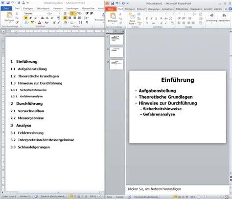 Word Vorlage Gliederung Powerpoint Pr 228 Sentation Aus Word Gliederung Erstellen