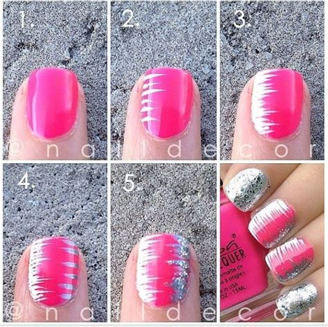 tutorial nail art silver 25 easy step by step nail tutorials for girls pretty designs