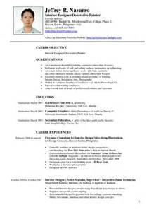 Interior Design Resume Objective Examples Cv Template Artist Artdesigntemplates Com Cv Designs
