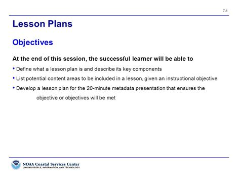 lesson plan objectives lesson plans objectives ppt