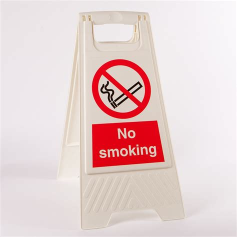 No Smoking Sign With Stand | no smoking floor stands from key signs uk
