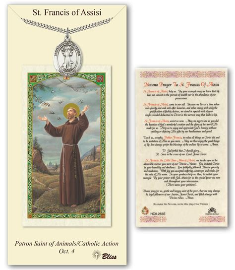 st sets for card st francis of assisi prayer card pendant gift set