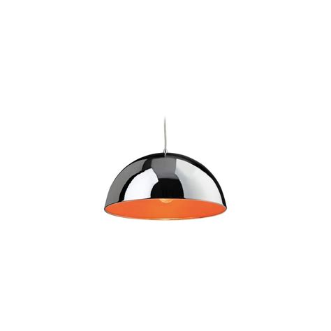 Orange Ceiling Light Bistro 8622chor Chrome And Orange 1 Light Ceiling Pendant