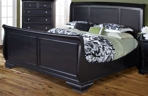 black sleigh bed maryhill rubbed black king sleigh bed from new classics