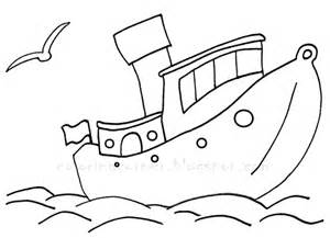 Printable Boat Coloring Pages sketch template