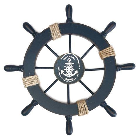boat steering wheel decor wooden nautical beach boat ship steering wheel fishing net