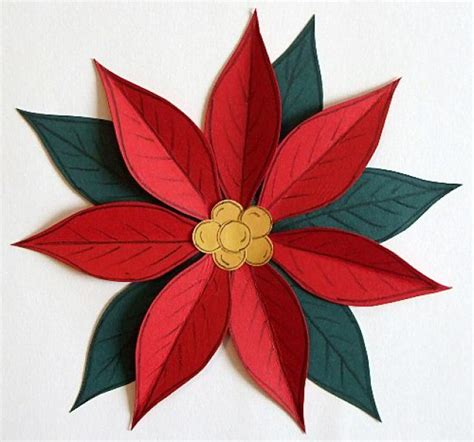 paper poinsettia flowers pattern 13 best photos of paper poinsettia template paper