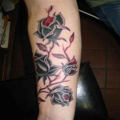 gothic black rose tattoo designs the gallery for gt flower