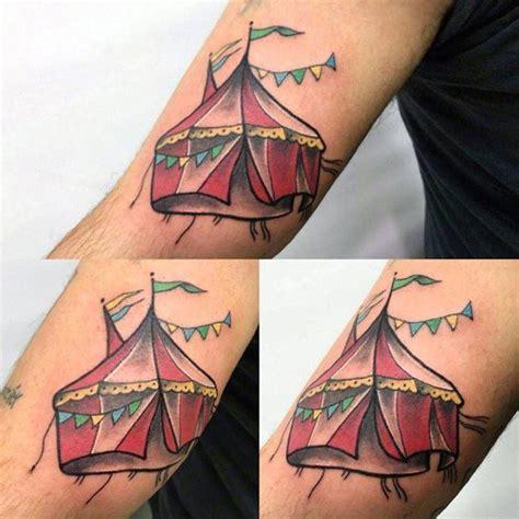 tent tattoo 60 circus tattoos for entertaining design ideas