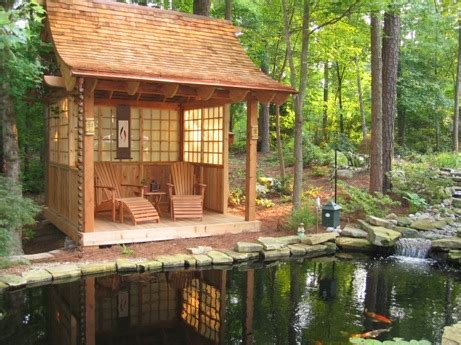 garden tea house raleigh koi teahouse japanese garden design cary nc tiny house design elements pinterest