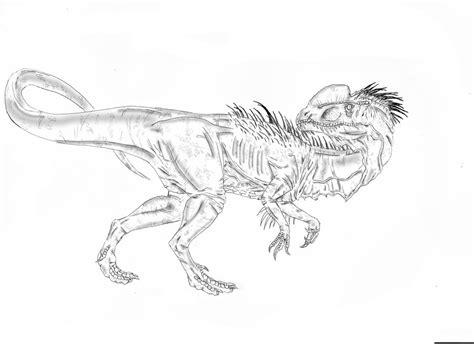 jurassic park dilophosaurus coloring pages