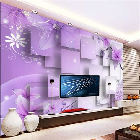 Custom Mural Wallpaper For Bedroom Walls 3d Luxury Gold Jewelry Wa purple luxury custom modern 3d wall murals silk waterproof wallpaper children s room boys