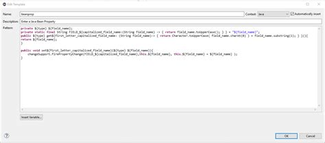 java templates java coded templates or code snippets eclipse