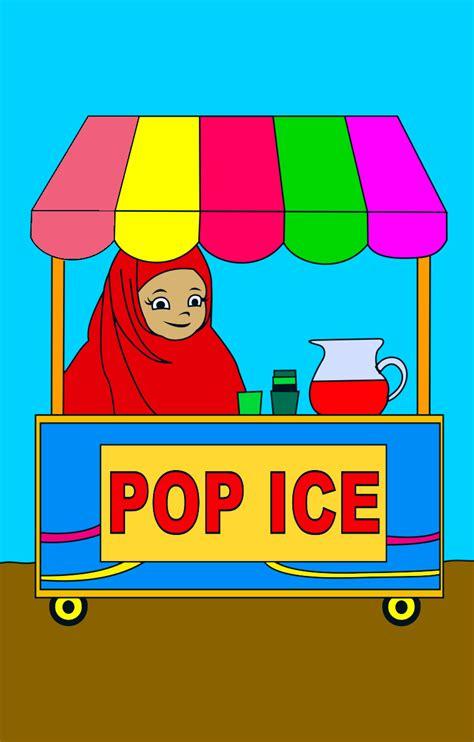 mewarnai gambar anak anak mewarnai penjual pop ice