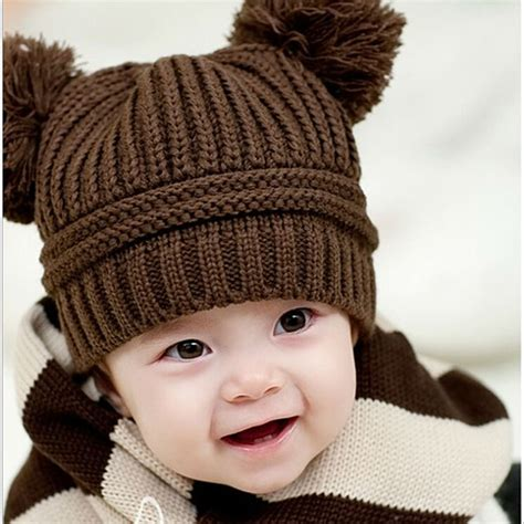 knitted winter hat sale baby dual knit sweater cap hats winter