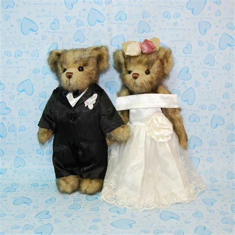 17 Best images about Bride And Groom Teddy Bears on