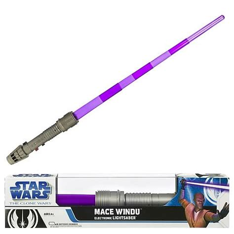 windu lightsaber wars mace windu electronic lightsaber hasbro
