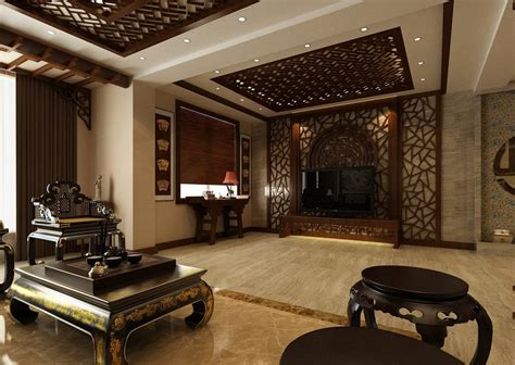 Arabic House Designs And Floor Plans by Chinese Classical Interior Design Tv Wall 3d House Free