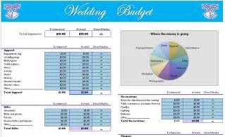 Printable Wedding Budget Template Wedding Budget Planner Template For Excel Party