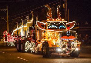 xmas lights eurekaca fortuna eureka and ferndale lighted truck parades 2017
