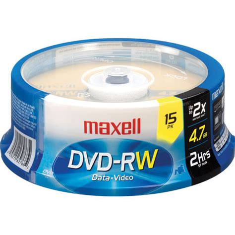 Dvd Rw 4 Gb maxell dvd rw 4 7gb dvd disc 15 635117 b h photo