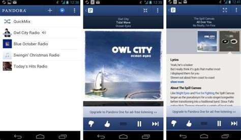 pandora app for android pandora radio for android gets a major update