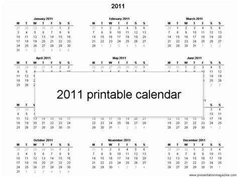 2011 calendar template free 2011 printable calendar template